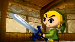 Link's a little rough around the edges in this game.