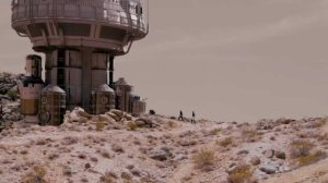 You know it's Mars because it has spacey looking buildings like this.
